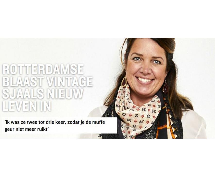 Rotterdamse blaast vintage sjaals nieuw leven in