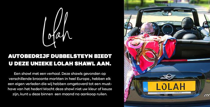 Autobedrijf Dubbelsteyn biedt unieke Lolah shawls aan